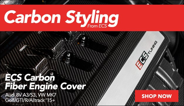 New VW MK7 & Audi 8V ECS Carbon Fiber Engine Cover