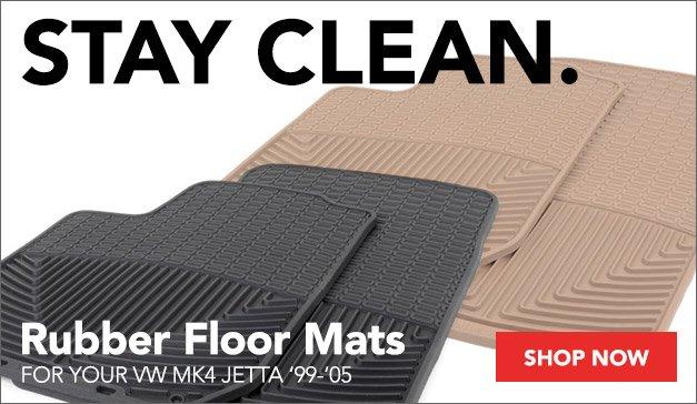VW MK4 Jetta Rubber Floor Mats