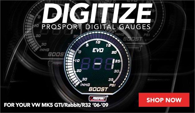 New Prosport Digital Gauges For Your MK5 Rabbit/GTI/R