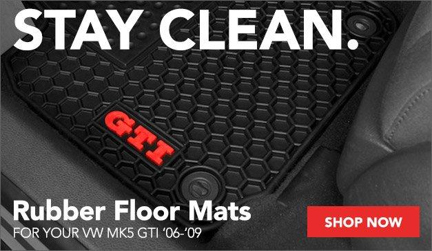 VW MK5 GTI Rubber Floor Mats