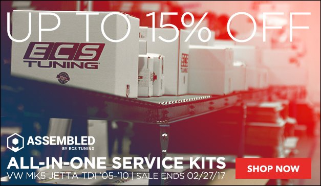Service Your VW MK5 Jetta TDI With Assembled By ECS
