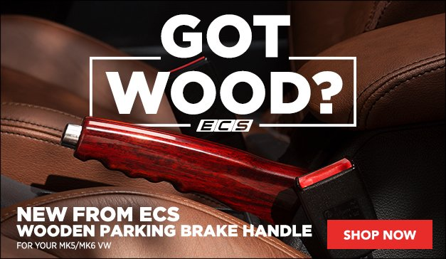 Got Wood? New MK5/MK6 Wooden Parking Brake Handle