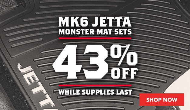 43% Off Mk6 Jetta Monster Mats
