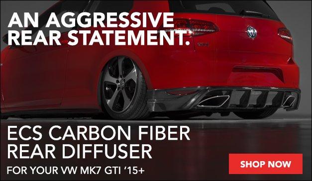 ECS Carbon Fiber Rear Diffuser - VW MK7 GTI