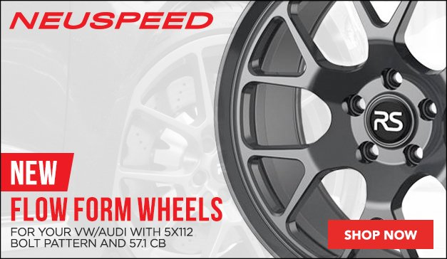 New FlowForm Wheels from Neuspeed - Stlyes RSe122 & RSe142 for your VW