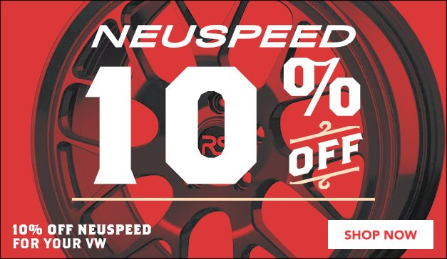 10% Off Neuspeed Performance Products for your VW