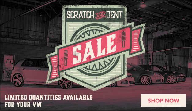 VW - ECS Scratch and Dent Sale! Limited Quantities Available