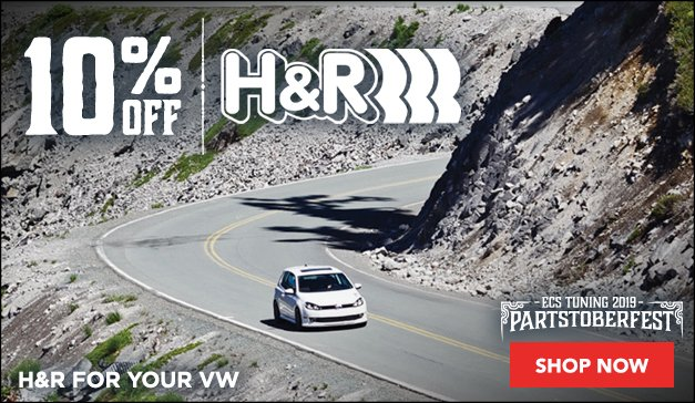 VW - 10% Off The Entire H&R Line - For A Limited Time Only Sale Ends 9.23.19