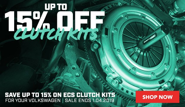 Up to 15% Off ECS Clutch Kits For your VW