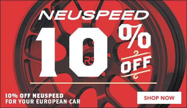 Neuspeed 10% off - general