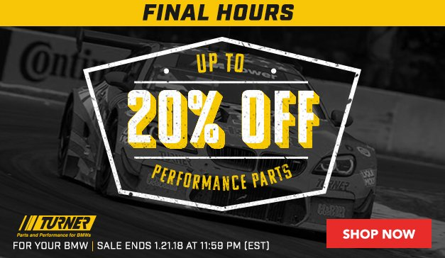 Up to 20% Off Turner Performance Parts - FH
