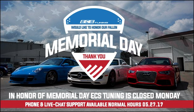 Closed Memorial Day Monday 05/29/2017