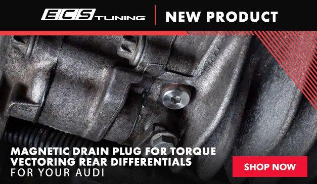 New ECS Audi Magnetic Drain Plug for Torque Vectoring Rear Differentials