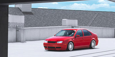A lowered and tuned VW Jetta