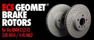 BMW E53 X5 3.0L M54 / 4.4L M62 ECS GEOMET® Rotors
