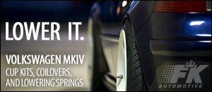 Volkswagen MKIV Suspension Lowering Kits From FK