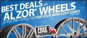BMW E39 5-Series Alzor Wheels Styles 718 & 725