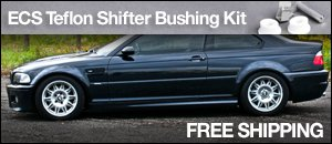 BMW E46 M3 ECS Teflon Shifter Bushing Kit