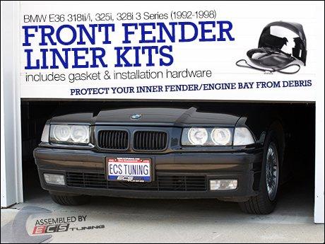 ECS News BMW E36 318ti i 325i 328i Front Fender Liner Kits