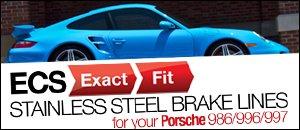 Porsche 986/996/997 ECS Exact-Fit Brake Lines