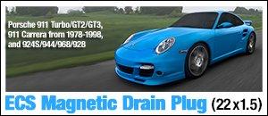 ECS Magnetic Drain Plug - Porsche