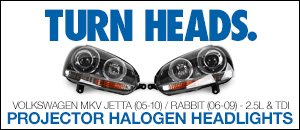 MKV Jetta/Rabbit Projector Halogen Headlights