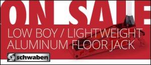 The Schwaben Low Boy - Lightweight Aluminum Floor Jack