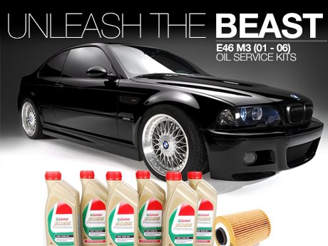 ecs news bmw e46 m3 oil service kits with castrol tws 10w60. Black Bedroom Furniture Sets. Home Design Ideas