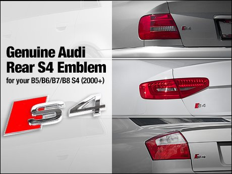 Ecs News Genuine Audi Rear S4 Emblems