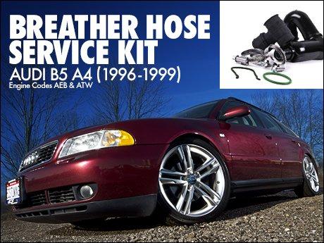 Ecs news audi b5 a4 1 8t breather hose service kit for Mercedes benz b5 service