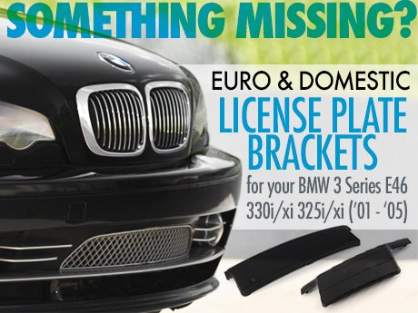 License Plate Brackets For BMW 3 Series E46