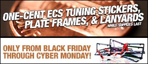 1¢ ECS Tuning Stickers, Plate Frames, and Lanyards