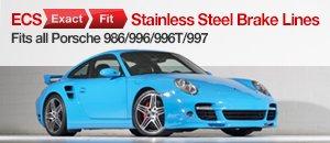 ECS Exact Fit Stainless Steel Brake Lines For Porsche