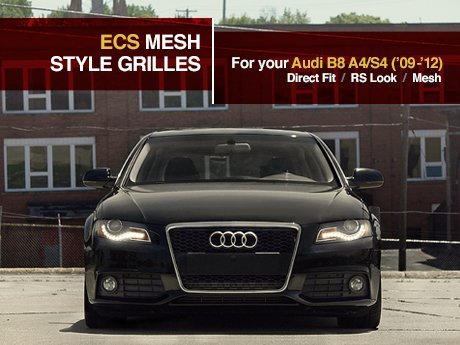 ecs news ecs mesh style grilles audi b8 a4 s4 09 12. Black Bedroom Furniture Sets. Home Design Ideas