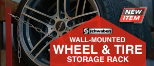 Wall-Mounted Wheel Storage Rack From Schwaben