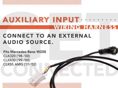 ECS News - Mercedes-Benz W208 Auxiliary Input Wiring Harness