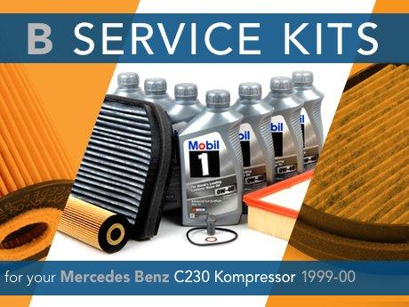 Ecs news mercedes benz c230 kompressor b service kit for B service mercedes benz