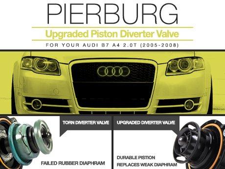 ECS News - Audi B7 A4 2 0T Pierburg Upgraded Piston Diverter Valve