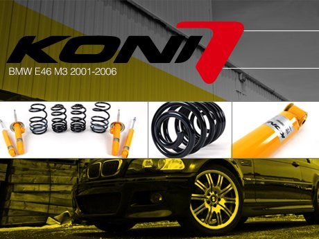 H/&R Sport Lowering Springs kit for 2001-2006 BMW E46 M3 Coupe and Convertible