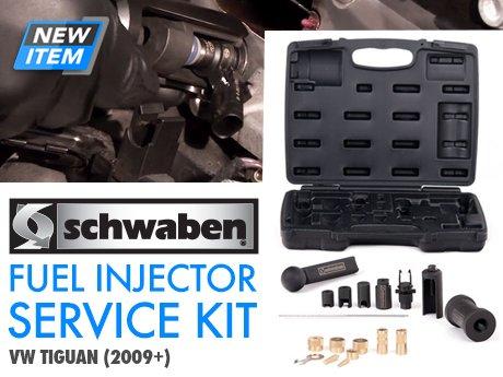 ecs news vw tiguan fuel injector service tool kit. Black Bedroom Furniture Sets. Home Design Ideas