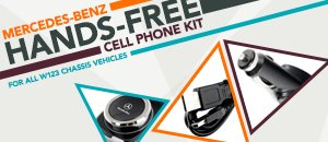 Mercedes-Benz W123 Hands Free Cell Phone Kit