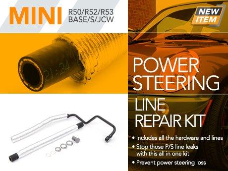 Ecs News Power Steering Line Repair Kit For R50 R52 R53 Mini