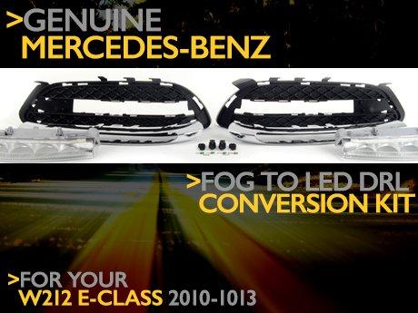 Ecs News Mercedes Bens W212 E Class Fog To Led Drl Kit