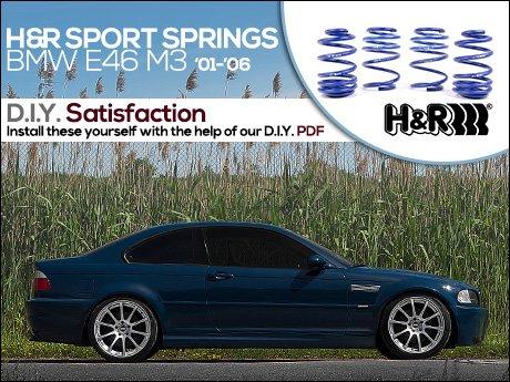 H/&R 01-06 BMW M3 M3 Cabrio E46 Sport Spring