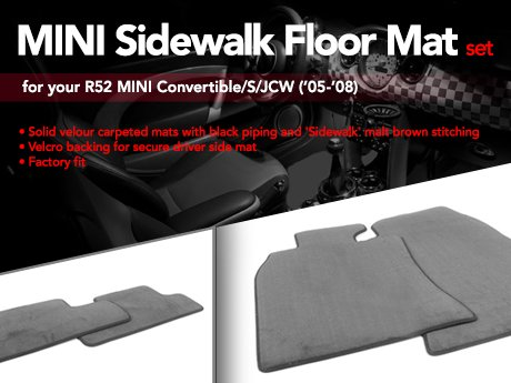 Ecs News Mini R52 Sidewalk Floor Mat Set