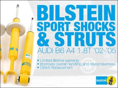 ecs news bilstein sport shocks struts audi b6 a4 1 8t. Black Bedroom Furniture Sets. Home Design Ideas