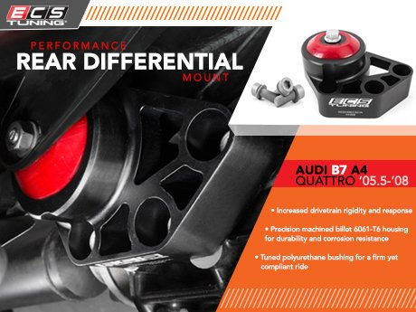 ECS News - Audi B7 A4 Quattro ECS Performance Rear Diff Mount Audi A Differential Bushing on audi a4 cooling system, audi a4 power steering fluid, audi a4 wheels, audi a4 gearbox, audi a4 engine, audi a4 air intake, audi a4 lift kit, audi a4 boost gauge, audi a4 turbocharger, audi a4 muffler, audi a4 firing order, audi a4 blow off valve, audi a4 undercarriage, audi a4 pcv valve, audi a4 timing belt, audi a4 center cap, audi a4 torque converter, audi a4 dashboard, audi a4 front suspension, audi a4 wiper arms,
