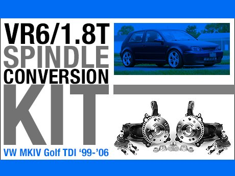 ECS News - VW MKIV Golf TDI VR6/1 8T Spindle Conversion Kit