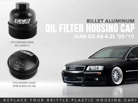 ECS News - Audi D3 A8 4 2L Billet Oil Filter Housing Cap