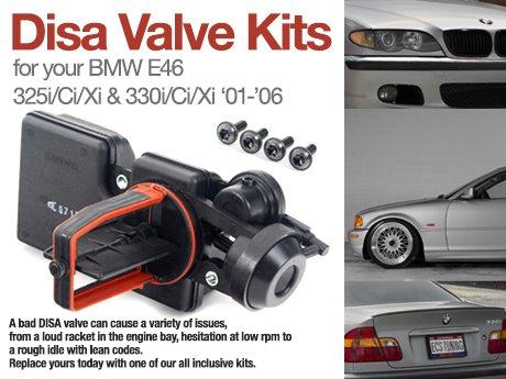 ECS News - BMW E46 325/330 Disa Valve Kits